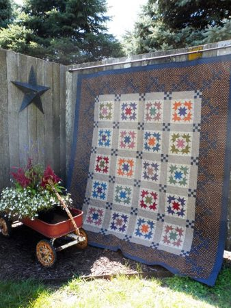 Traditional scrappy lap quilt