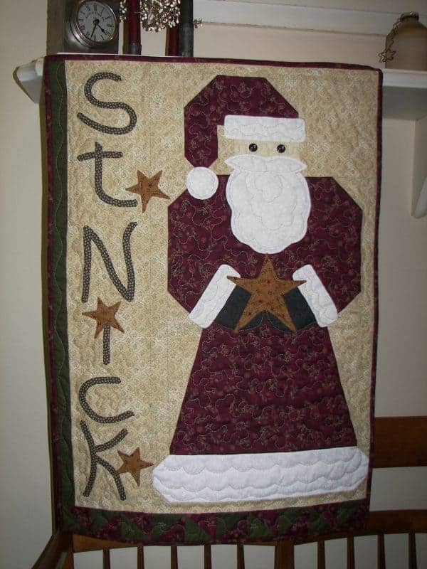 Old St Mick pieced and appliques wall hanging