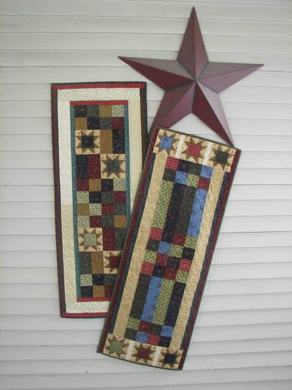 scrappy stars table runners