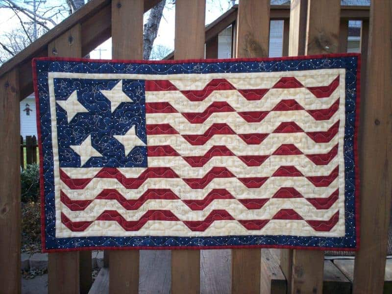 patriotic flag wall hanging pattern