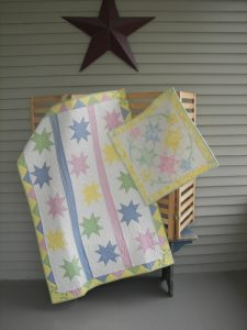 scrappy baby quilt and wall hanging pattern