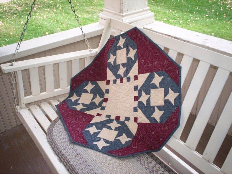 pieced stars patriotic table topper