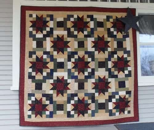 scrappy stars lap quilt