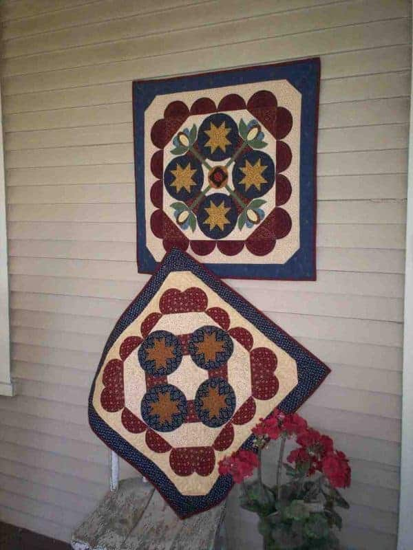 Summer piece and applique table toppers