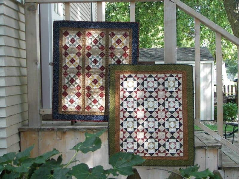 Wall hangings traditional scrappy blocks