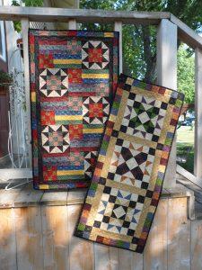 scrappy stars pieced table runners