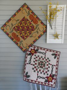 Fall and winter pieced and applique table topper pattern