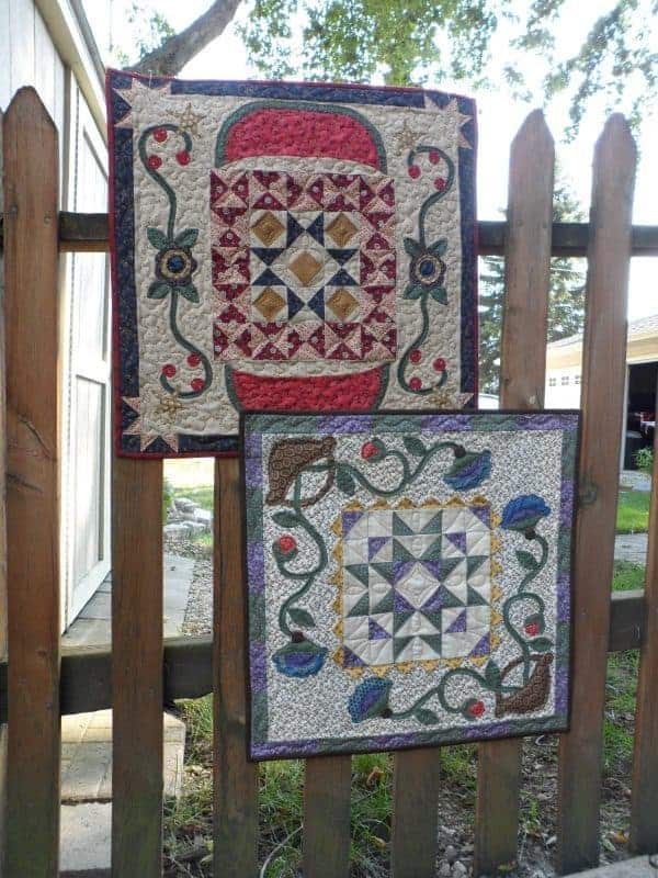 spring and summer pieced and appliqued table topper pattern