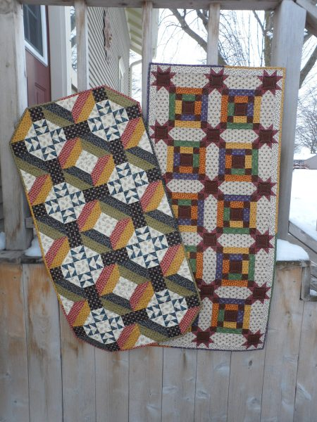 colorful scrappy quick table runners