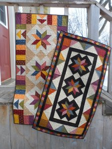 LeMoyne Star quick scrappy table runners