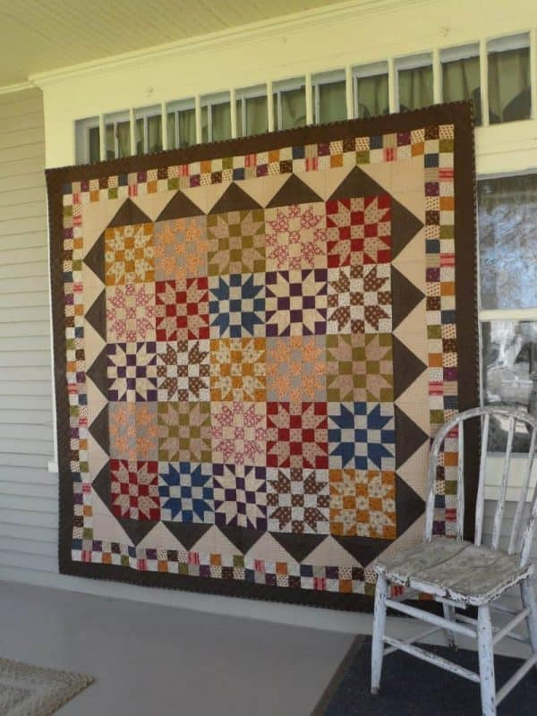scrappy sister's choice block lap quilt