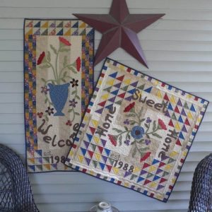 welcome and home sweet home wall hanging and table topper