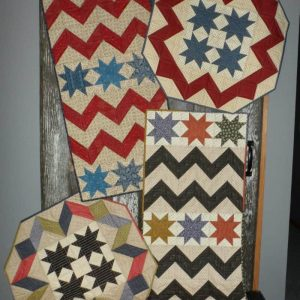 scrappy chevrons and stars pattern table runners and toppers