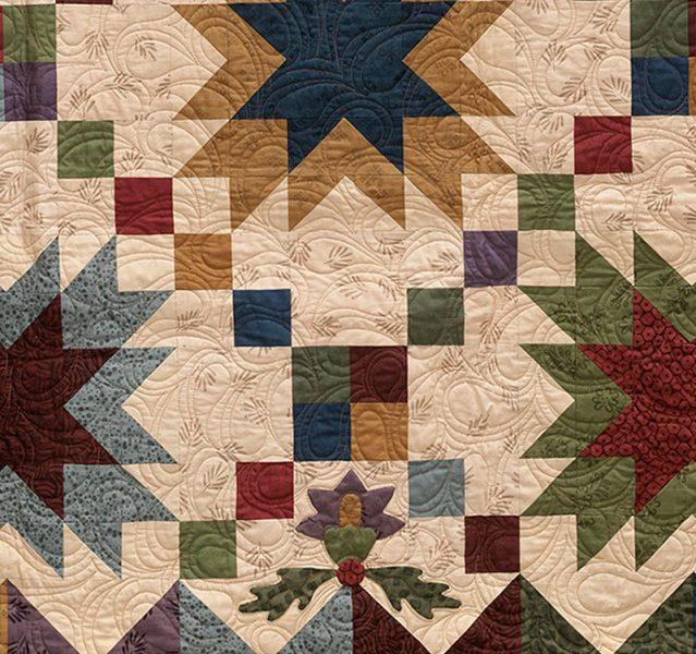 Prairie Sky Quilt, detail