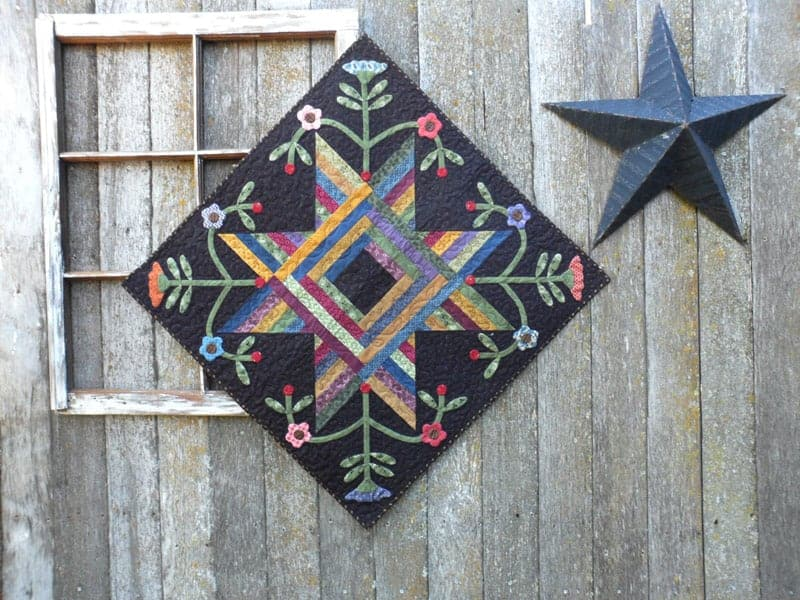 String Along Blooms quilt pattern by Deanne Eisenman