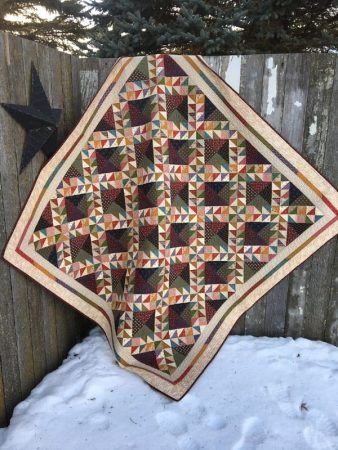 Village Square quilt by Deanne Eisenman