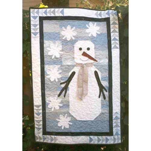 pieced and applique snowman wall hanging