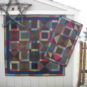 Fat quarter friendly scrappy lap quilt and runner