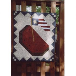 summer watermelon patriotic wall hanging