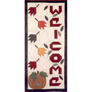 fall wall hanging with applique