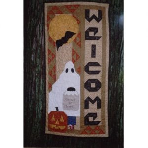 Halloween ghost trick-or-treat wall hanging