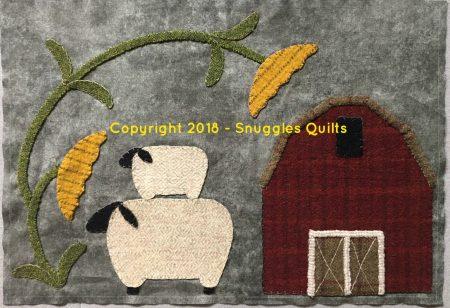 Wool applique 2018 bom block 2 u2013 snuggles quilts