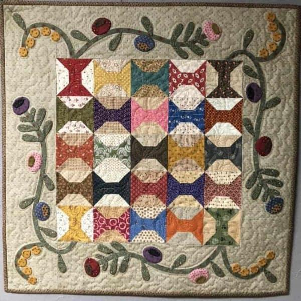 scrappy table topper scrappy quilt applique pattern